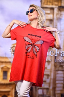 T-Shirt Butterfly in Rot