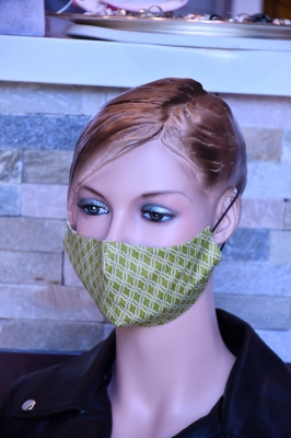 Mundmaske - Green Pattern